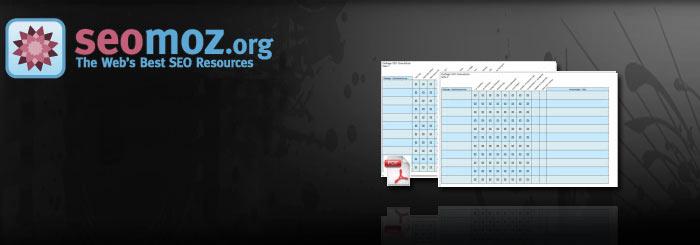 OnPage Faktoren der SEOMoz als PDF Checkliste